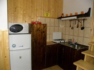Pensiune Rustic House - bucatarie apartament