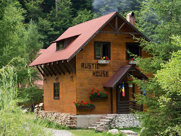 Pensiunea Rustic House - Cabana 1 jardiniera cu flori